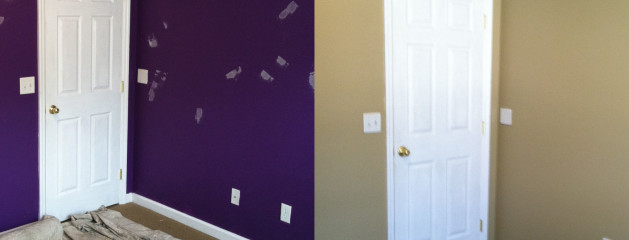 Purple To Tan Room
