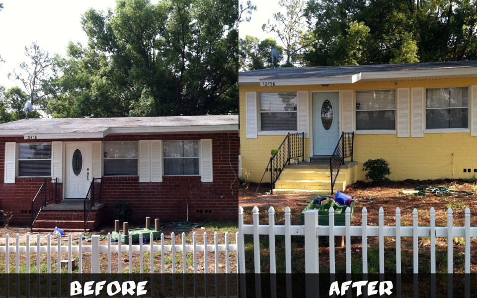 brick home painting jacksonville