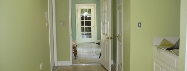 Home Interior Painted Green