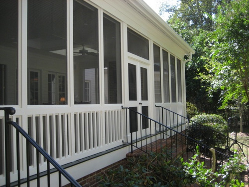 Screened in porch painting jacksonville